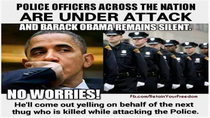 police offcer and Obama